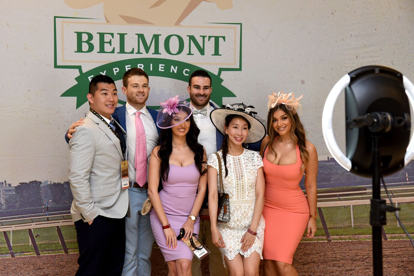 crowd at belmont stakes